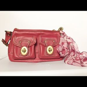Coach leather purse hot pink